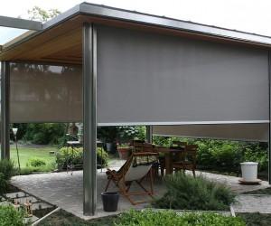 aussenrollo screen zip evofenster aluminium fenster. Black Bedroom Furniture Sets. Home Design Ideas